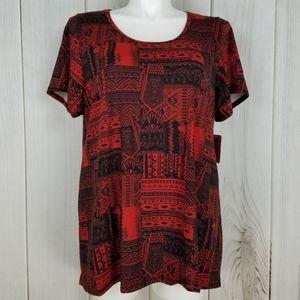 ⭐New⭐3X Lularoe Classic Tee Red Tribal Print